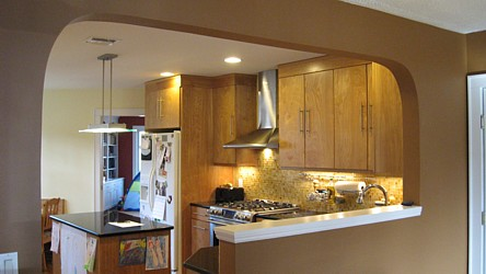Residential - Half wall kitchen designs ...